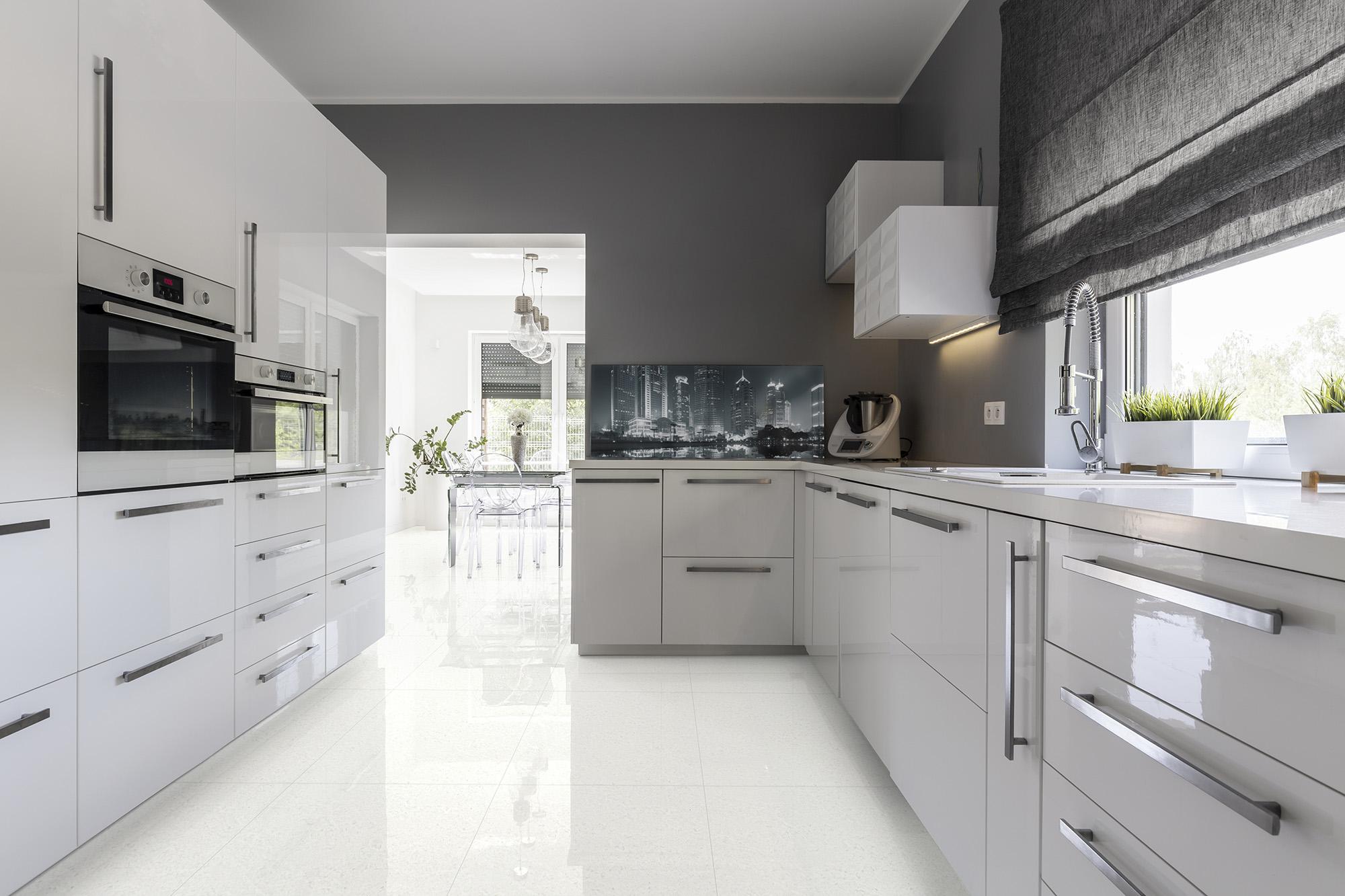 Closed White Kitchen Designs
